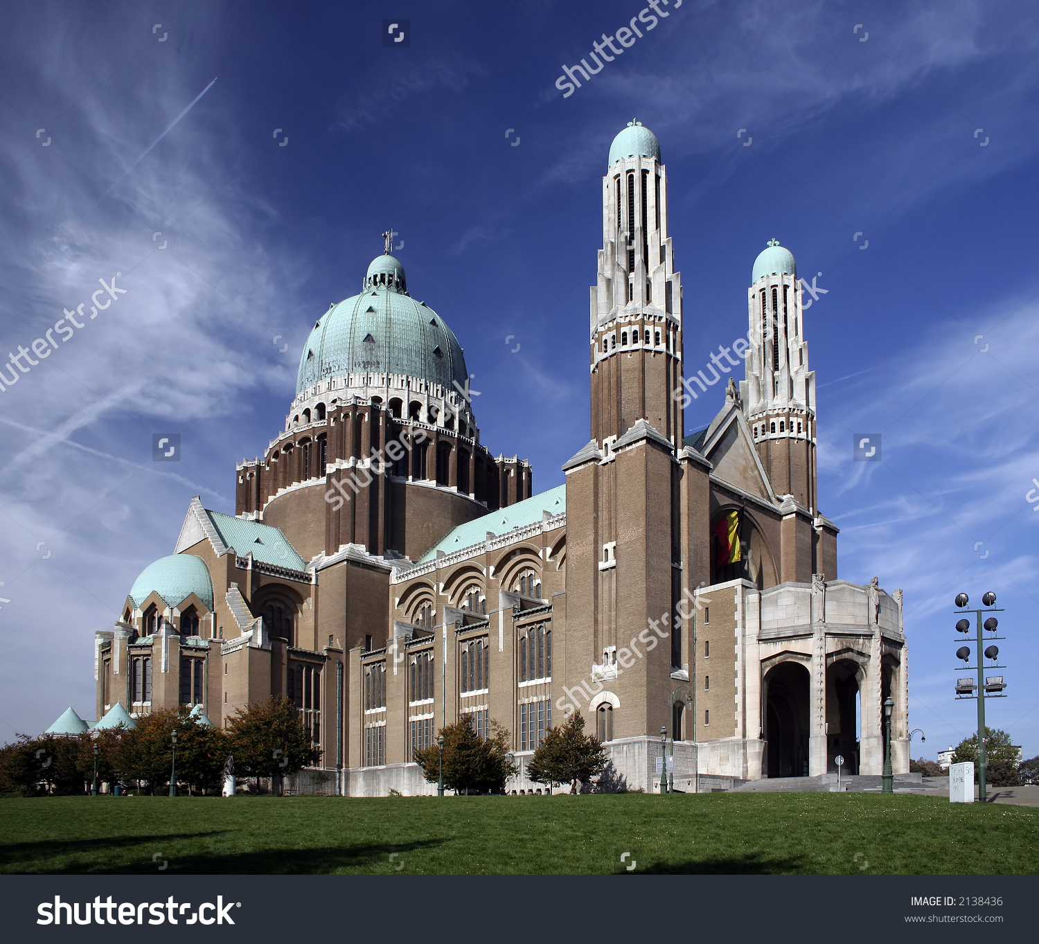 Basilica Sacred Heart Situated Suburb Koekelberg Stock Photo.