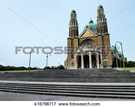 Picture of Basilica of the Sacred Heart in Brussels k16798717.