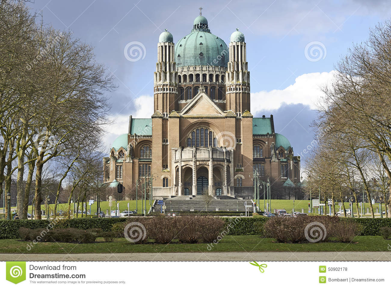 National Basilica Of Sacred Heart In Brussels Editorial Stock.