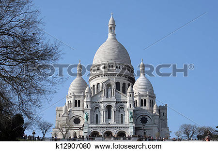 Stock Photography of Basilique Sacre Coeur, Paris k12907080.