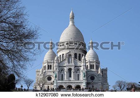 Stock Photography of Basilique Sacre Coeur, Paris k12907080.