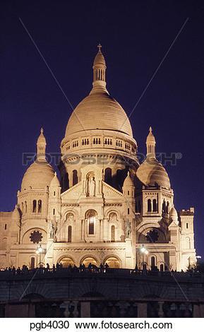 Stock Photography of France. Paris. Basilique du Sacre Coeur.