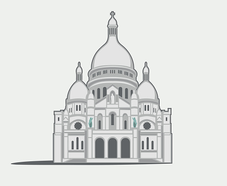 Basilique Du Sacré Coeur Clip Art, Vector Images & Illustrations.