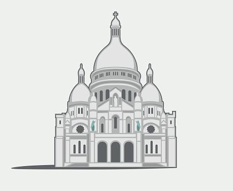 Basilique Du Sacré Coeur Clip Art, Vector Images & Illustrations.