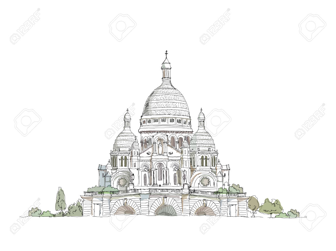 Sacre Coeur, Paris Royalty Free Cliparts, Vectors, And Stock.