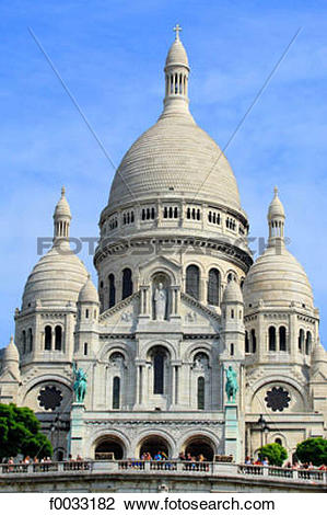 Stock Photo of France, Paris, Montmartre, basilique du Sacré coeur.