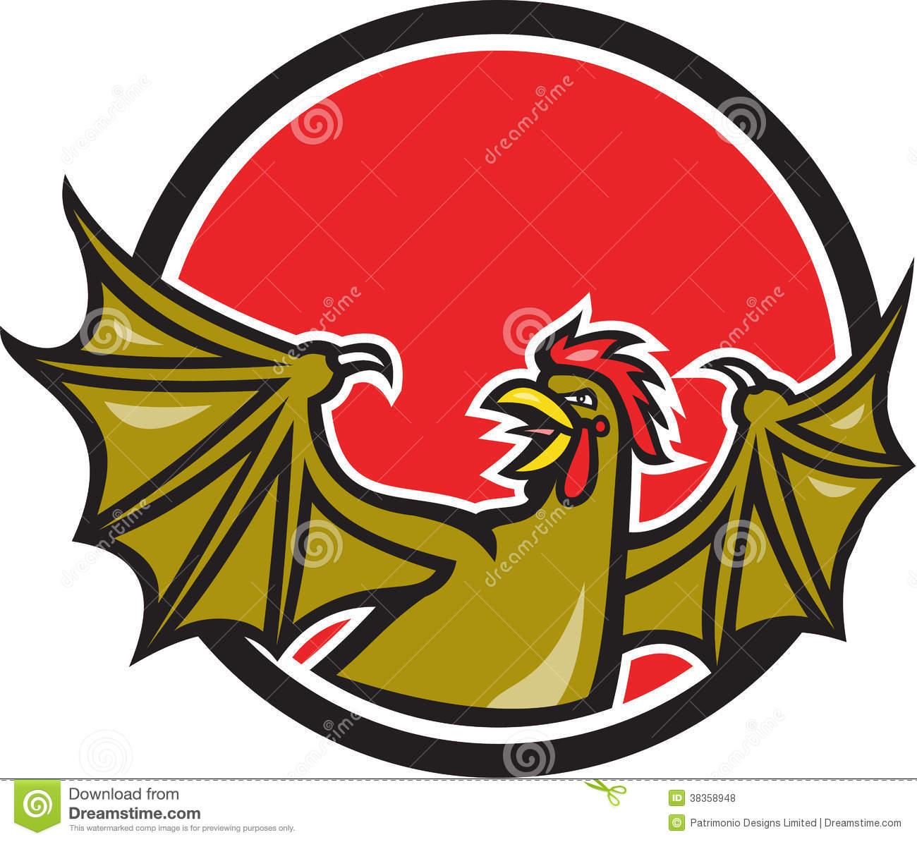 Basilisk Monster Cartoon Illustration Royalty Free Stock Images.