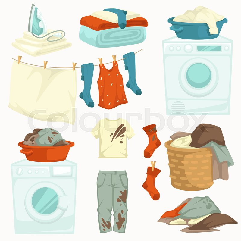 Washing machine and iron dirty and.