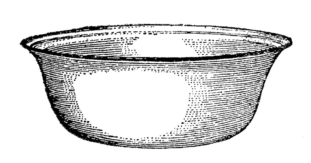 Basin clipart black and white.