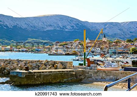 Stock Photo of Town of Baska, Island Krk k20991743.