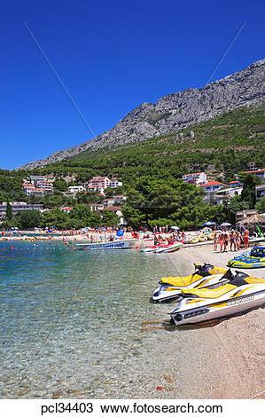 Stock Photo of Central Dalmatia, Makarska Riviera, Baska Voda.