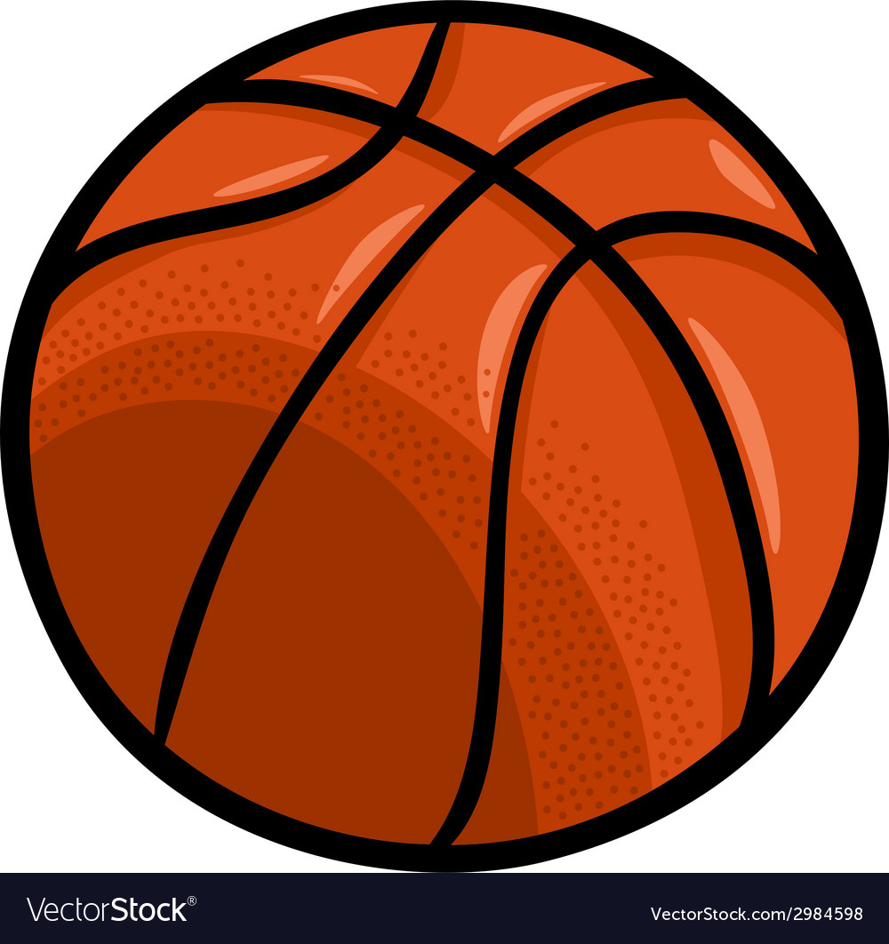 Basketball ball cartoon clip art.