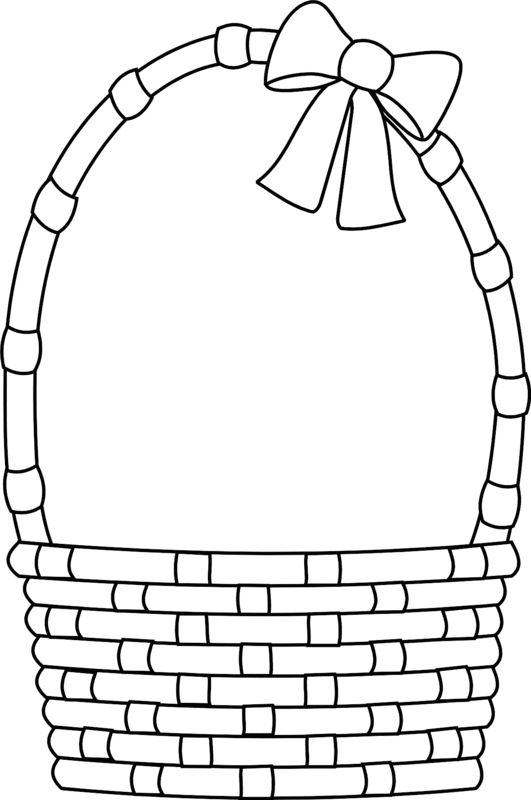 Basket black and white clipart 1 » Clipart Station.