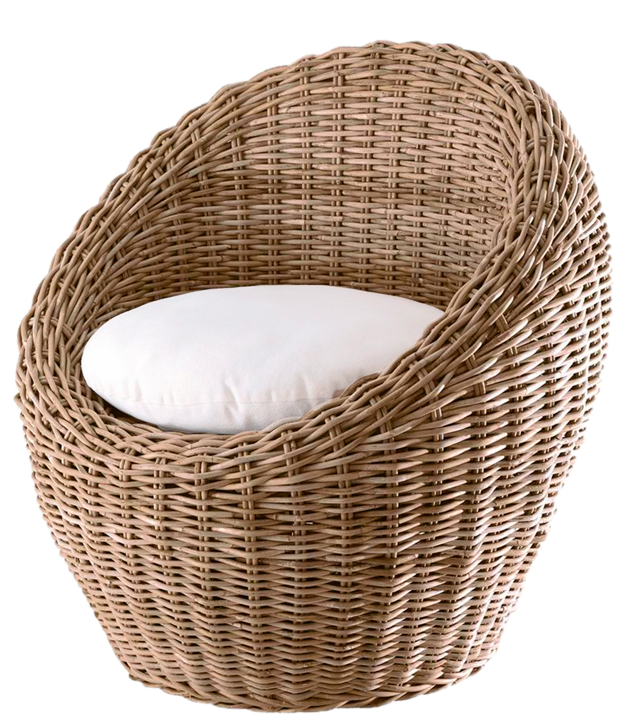 Transparent Round Wicker Chair PNG Picture.