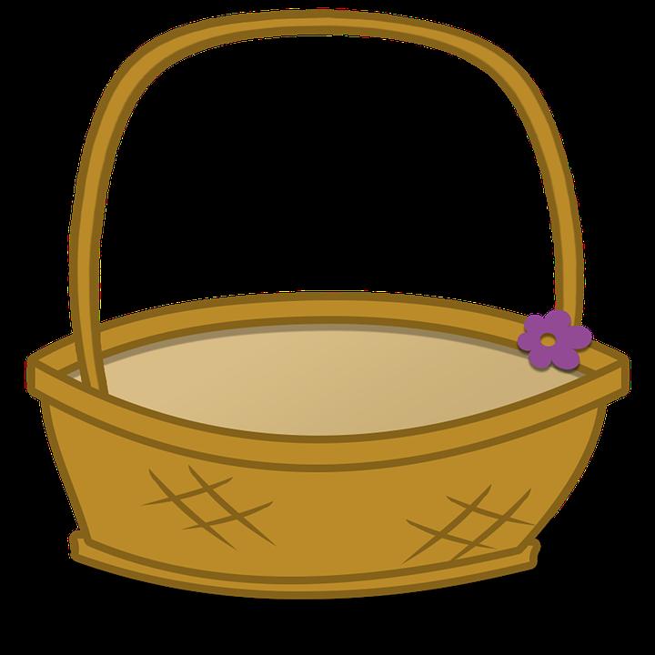 Basket Clipart Cartoon.
