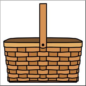 Clip Art: Picnic Basket Color I abcteach.com.
