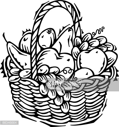 Fruit basket clipart black and white 4 » Clipart Station.