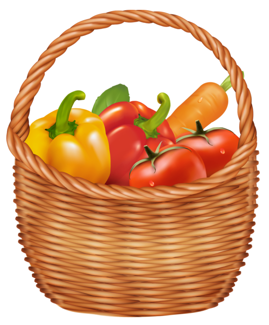 Vegetables Basket PNG Clipart Picture.