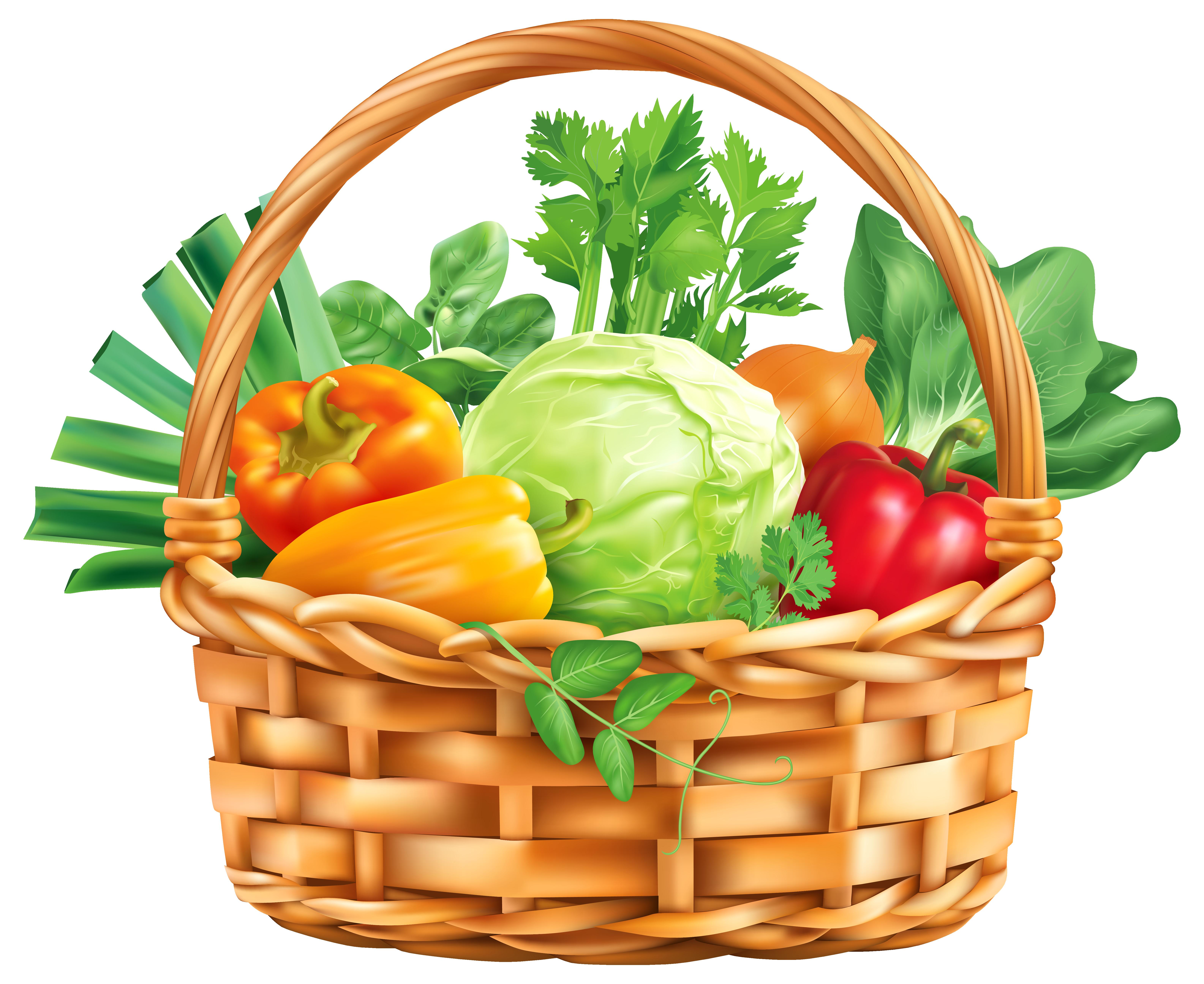 Vegitable Basket PNG Clipart Image.