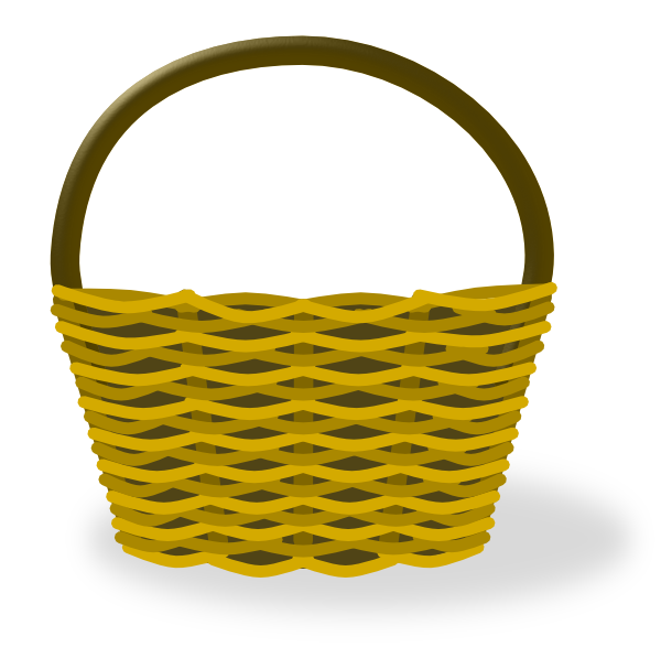 Empty Apple Basket Clipart.