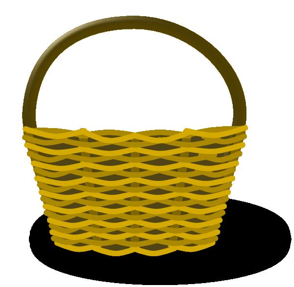 Empty Apple Basket Clipart.