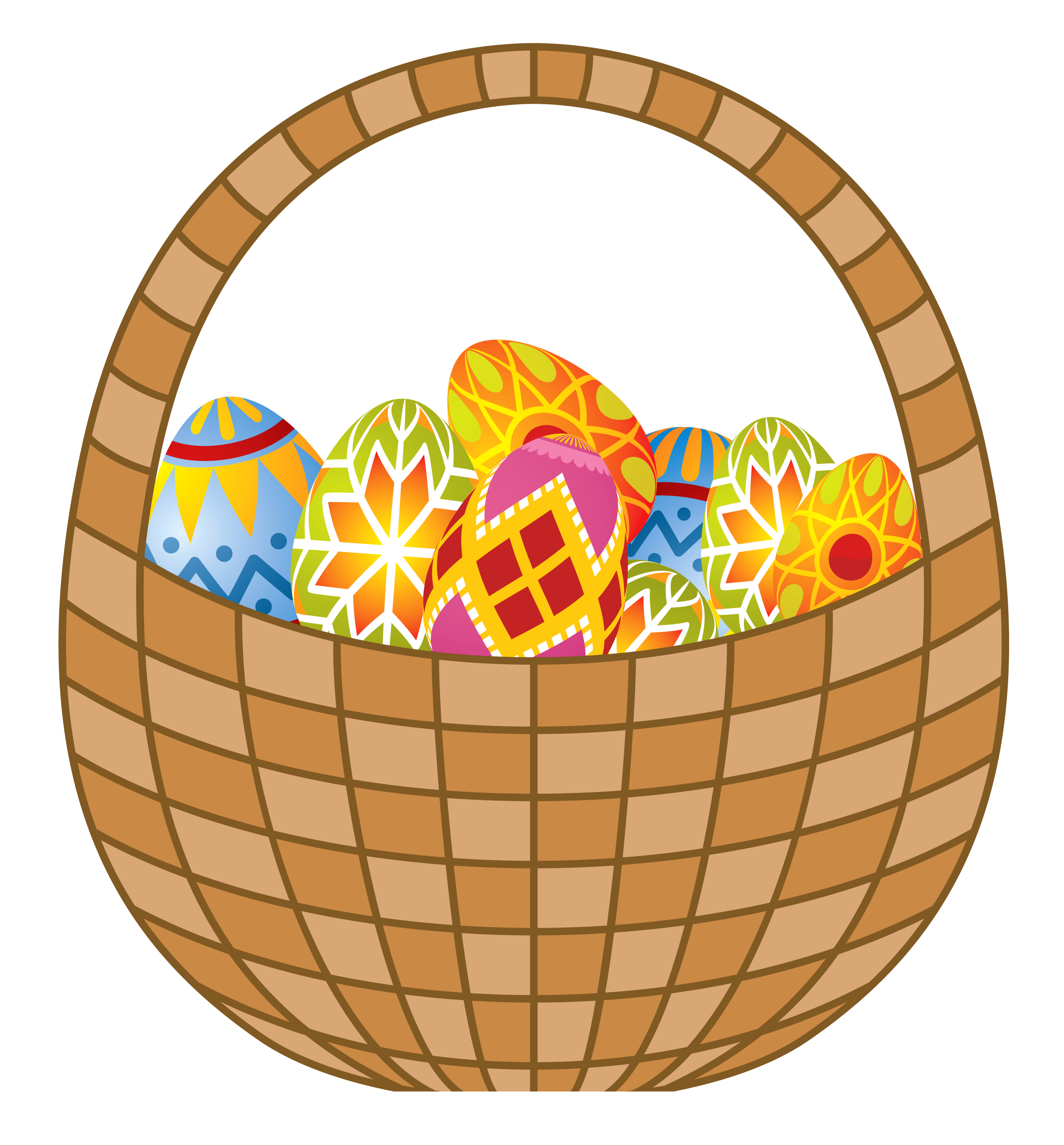 Clipart easter egg basket.