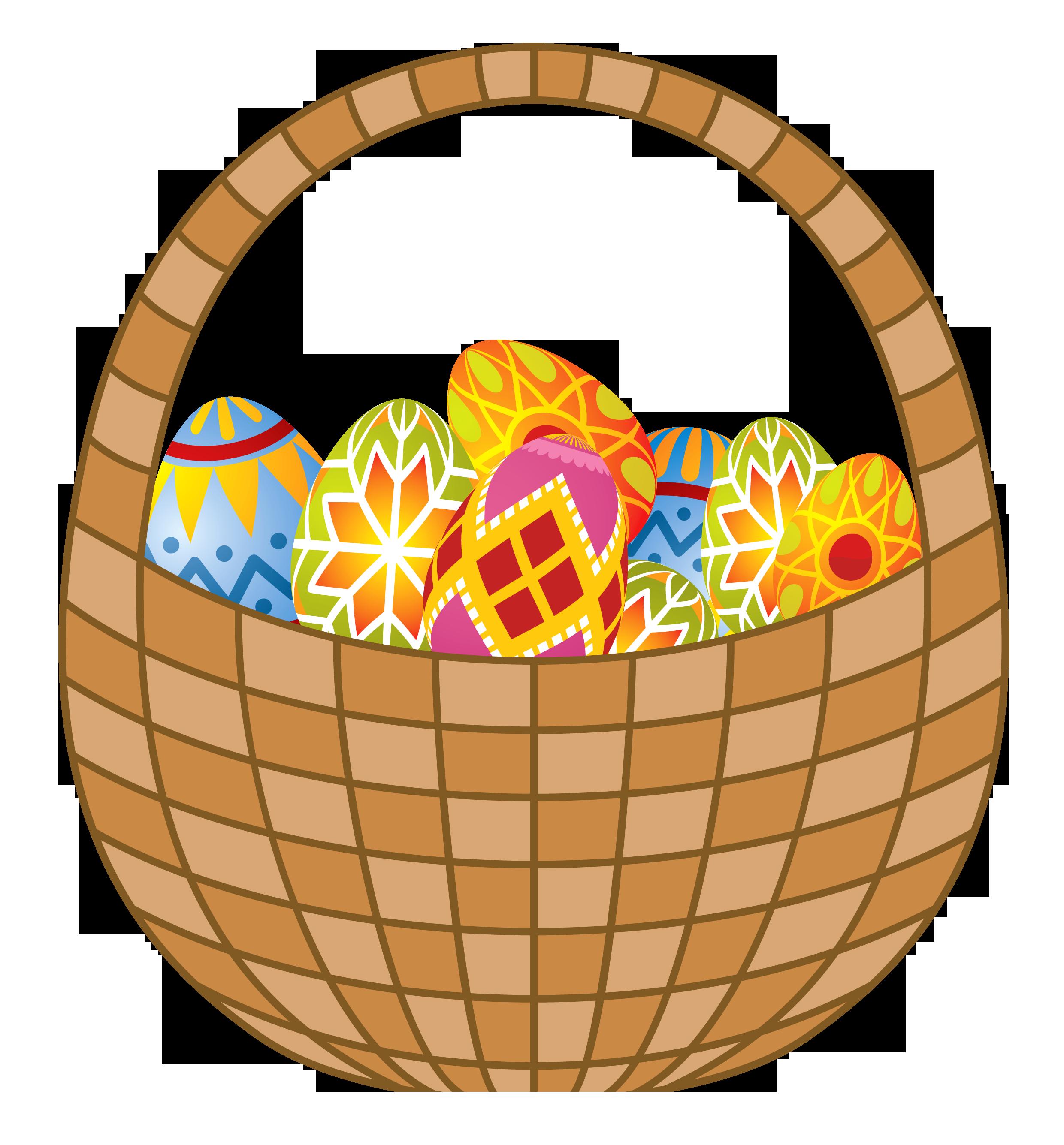 Clipart easter egg basket.