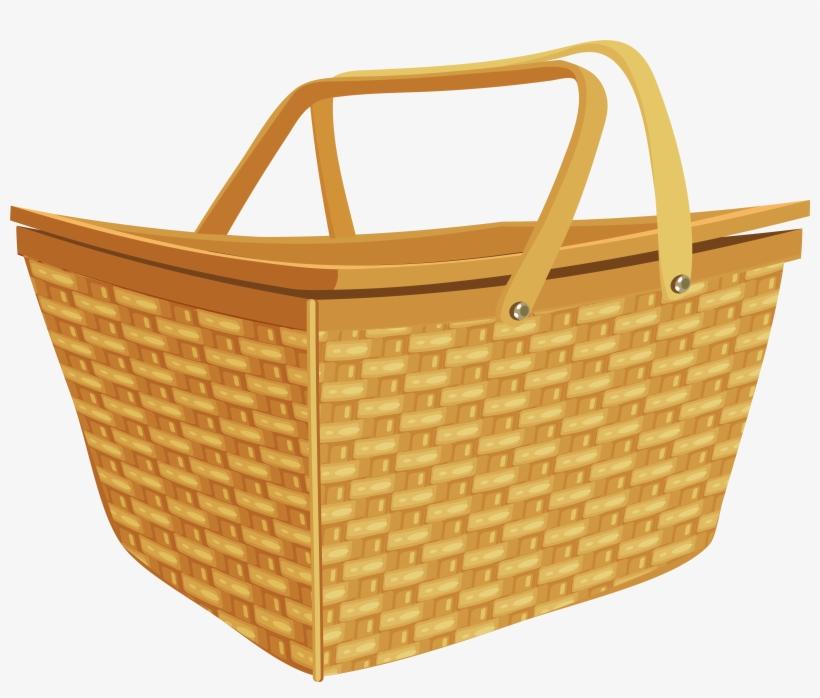Picnic Basket Png Clip Art Image.