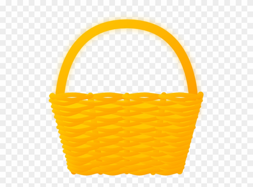 Picnic Basket Clipart Brown.