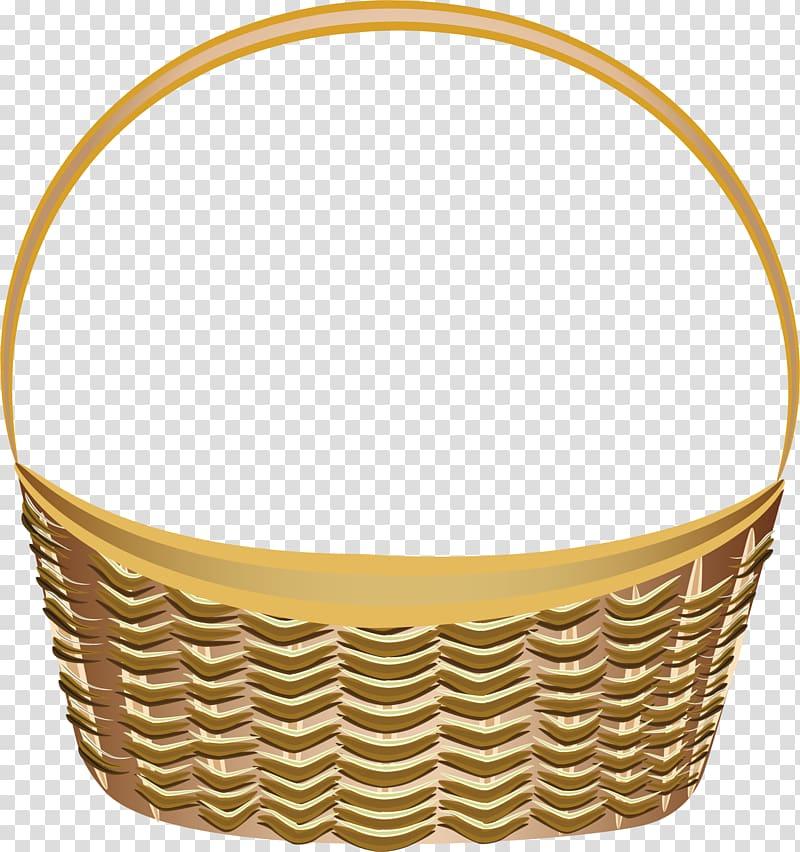 Brown wicker basket , Vegetable Basket Fruit , retro bamboo.