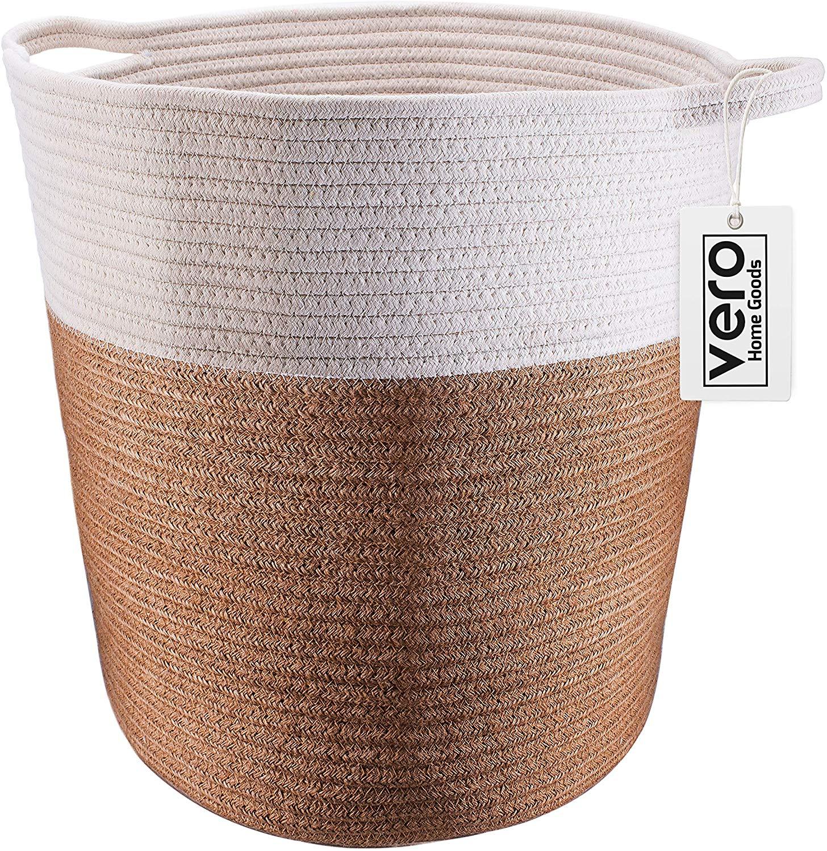 Vero Home Goods Cotton Rope Basket.