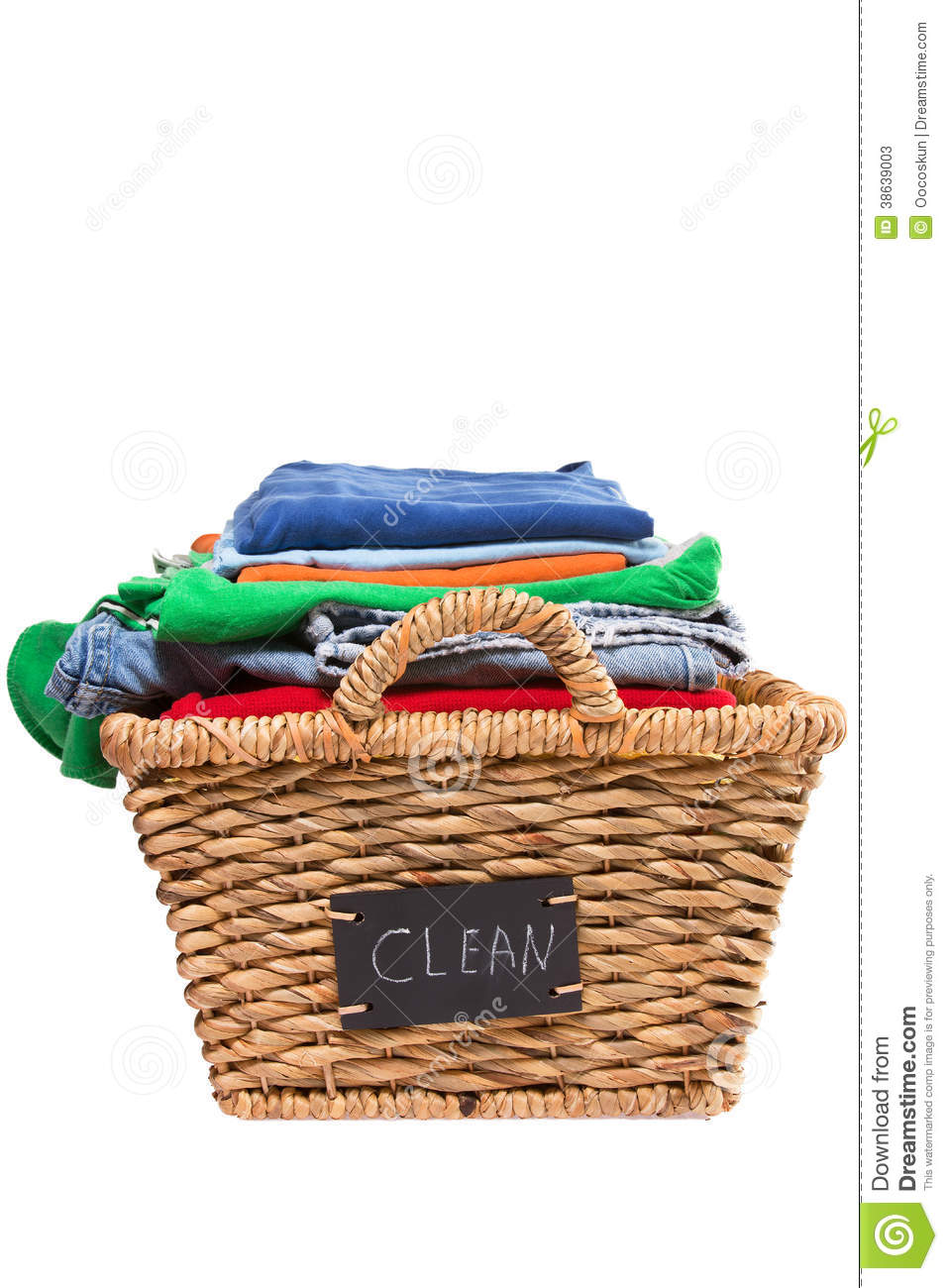 295 Laundry Basket free clipart.