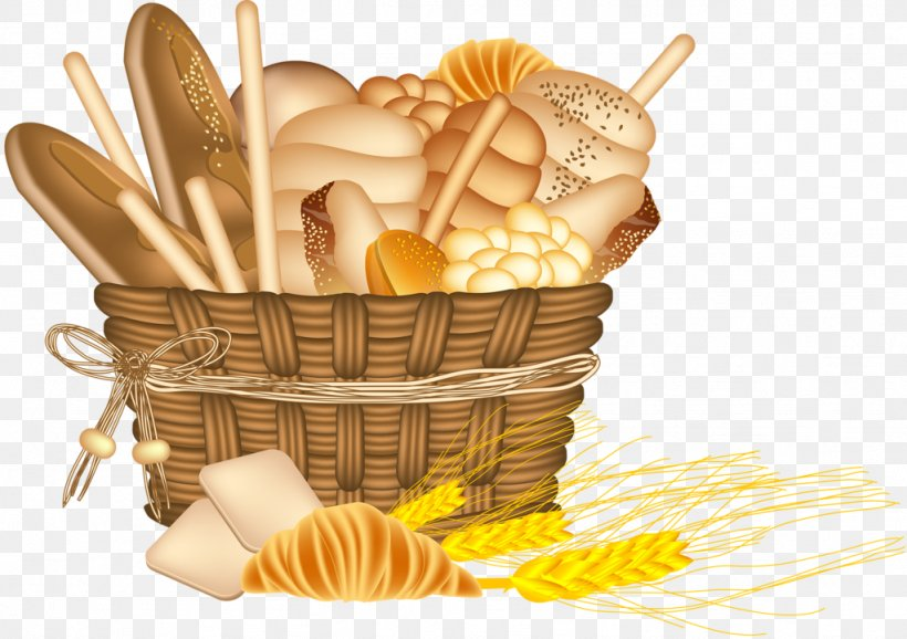 Bakery Basket Of Bread Food Clip Art, PNG, 1024x722px.