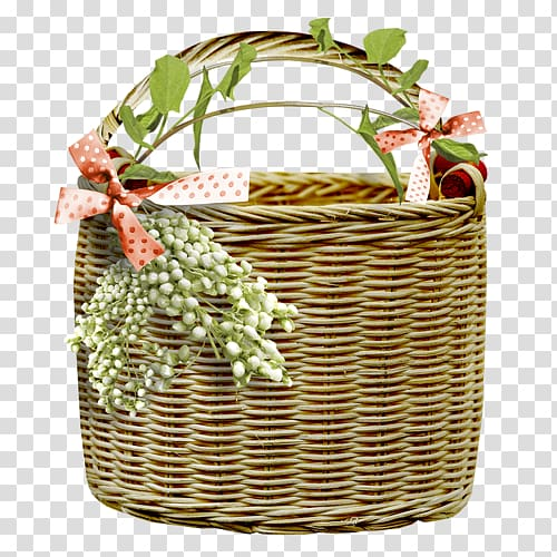 Food Gift Baskets Hamper, wood transparent background PNG.