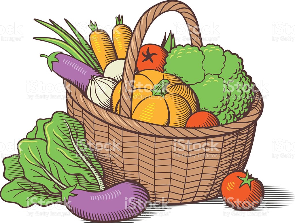 Basket of vegetables clipart 4 » Clipart Station.