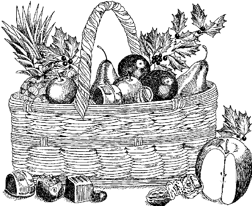 Fruit Basket Clip Art Black White Vegetables Pictures to Pin on.