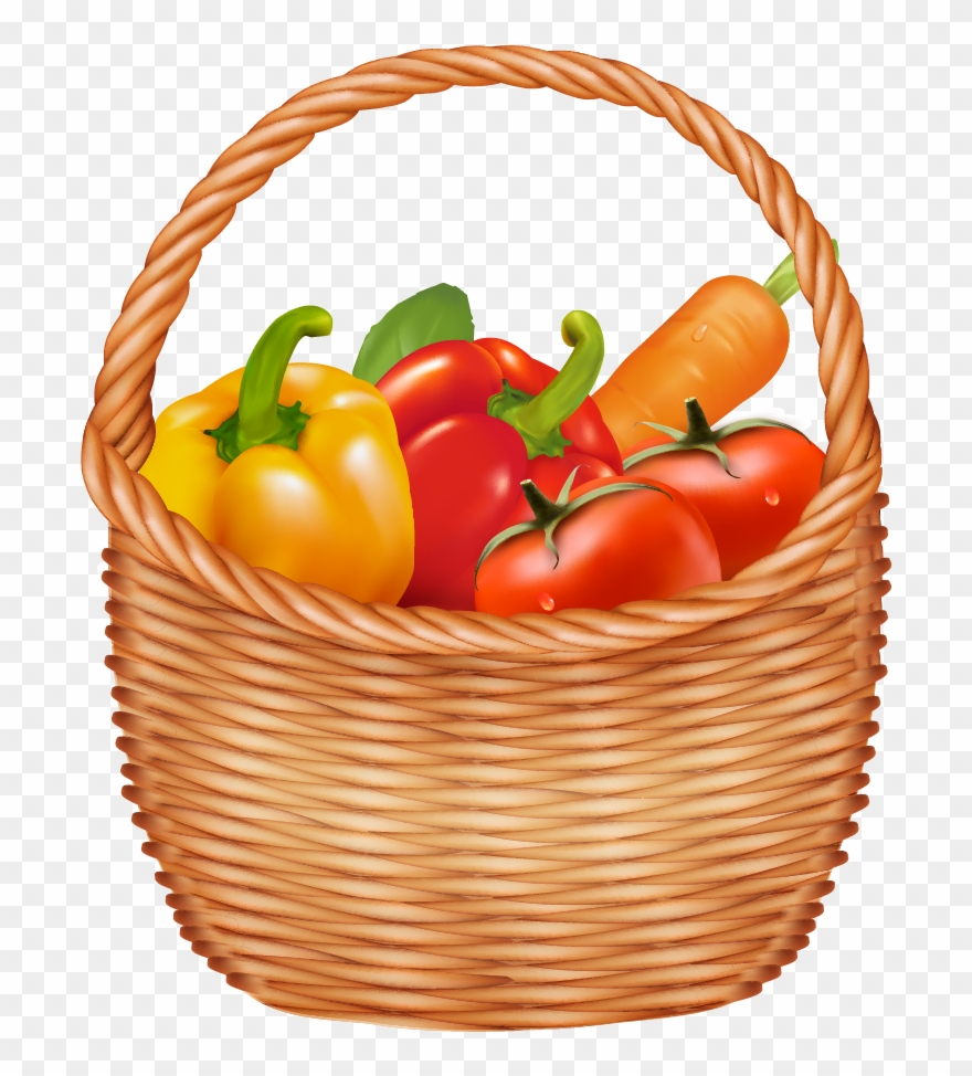 Vegetable Basket Clipart At Getdrawings.