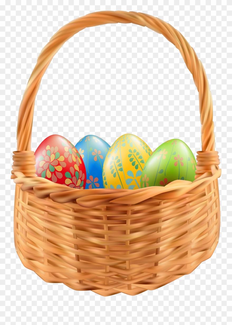Easter Egg Easter Basket Clip Art.