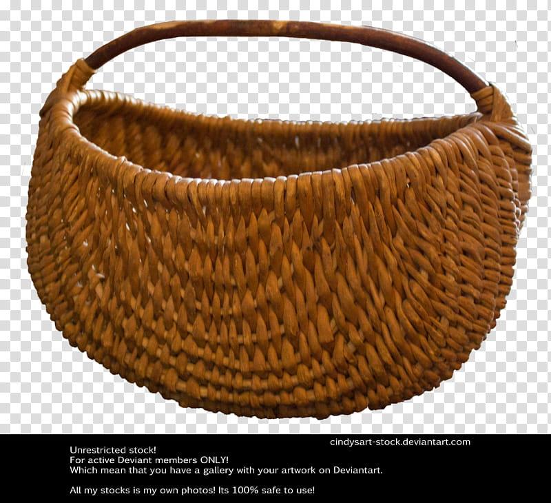 Basket, brown woven basket illustration transparent background PNG.