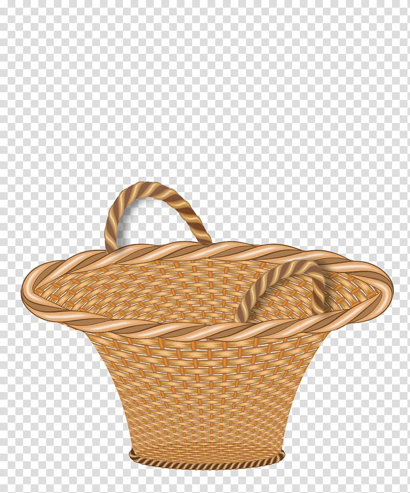 Basket, empty brown basket transparent background PNG clipart.