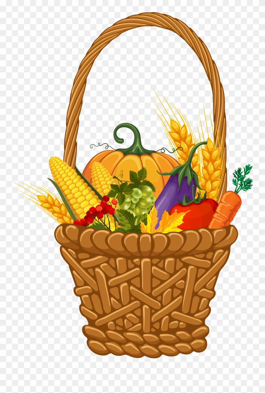 Fall Harvest Basket Png Clipart Image Gallery.