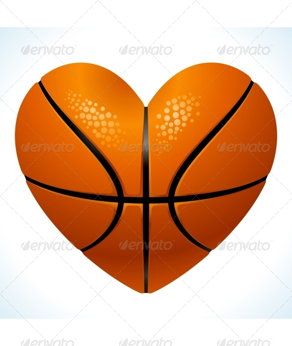 Basketball Heart Clipart.