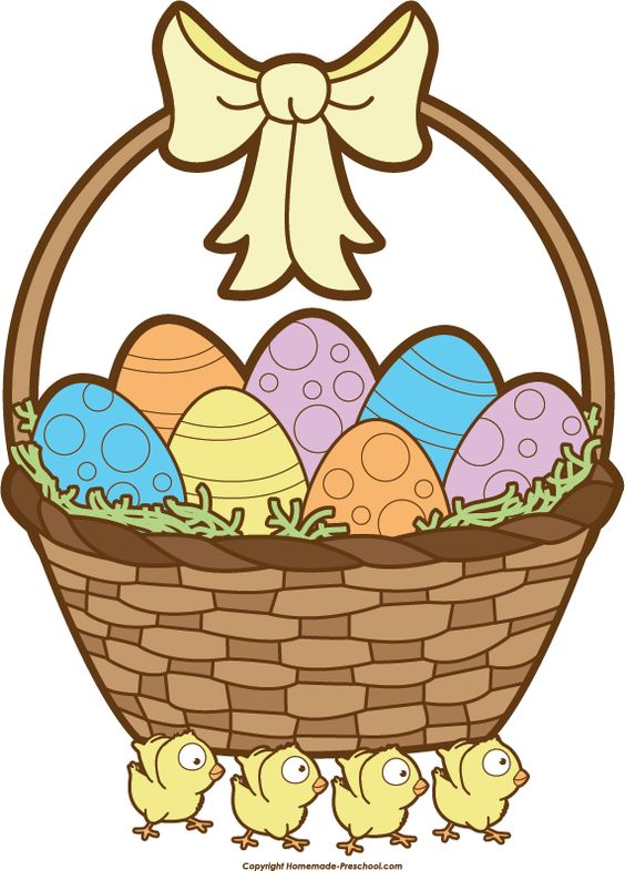 Easter Basket Clipart Black And White Images.