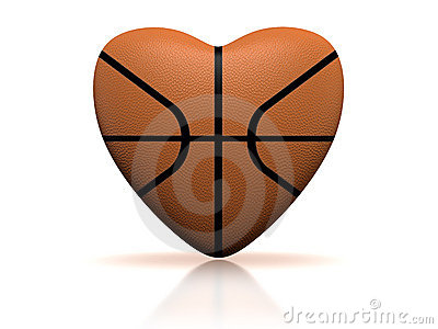 Basketball Heart Stock Photography.