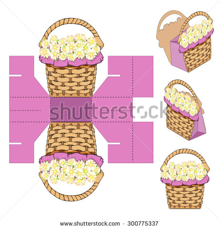 Empty Gift Basket Stock Photos, Royalty.