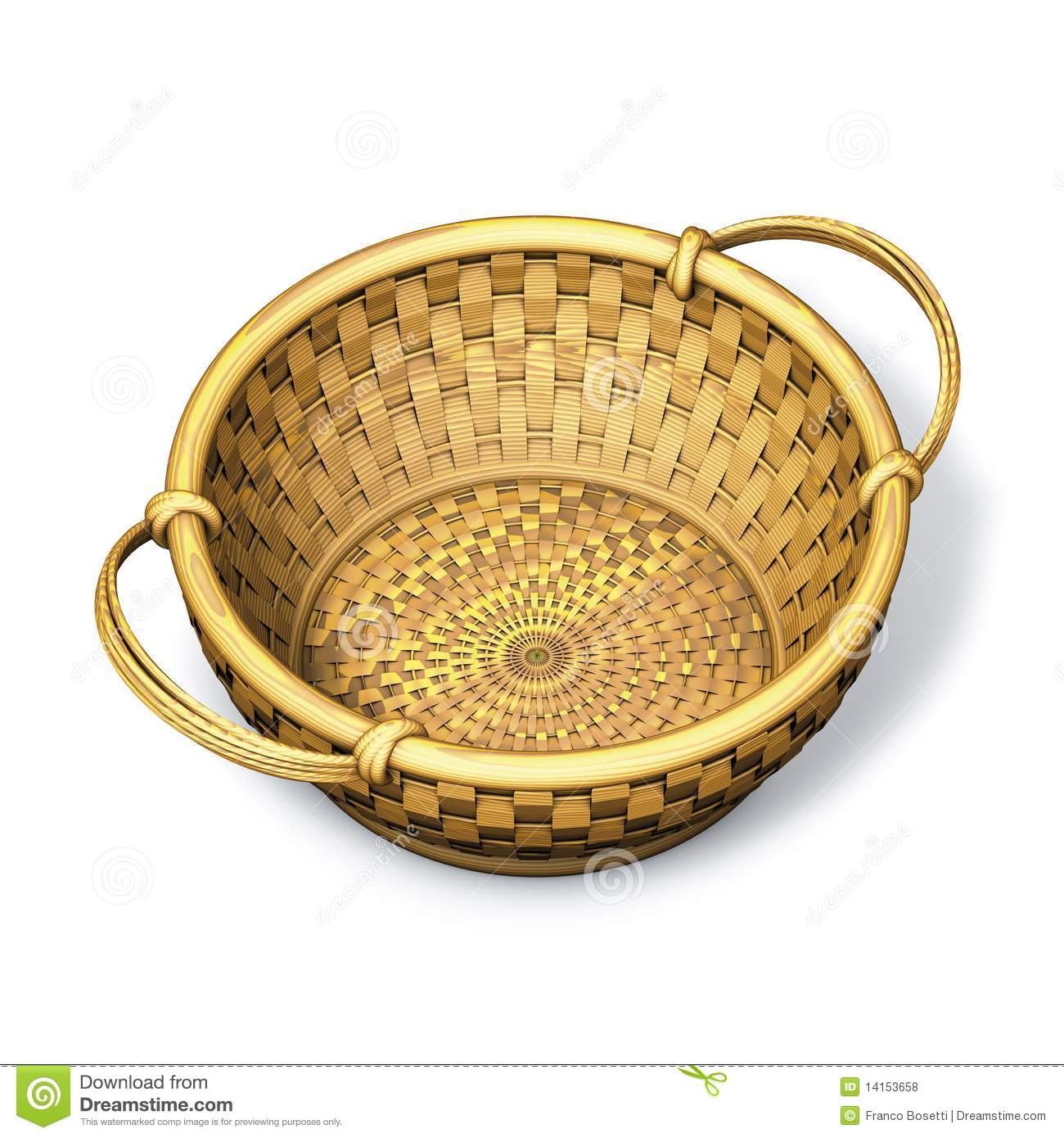 Wicker Basket Round Royalty Free Stock Photos.