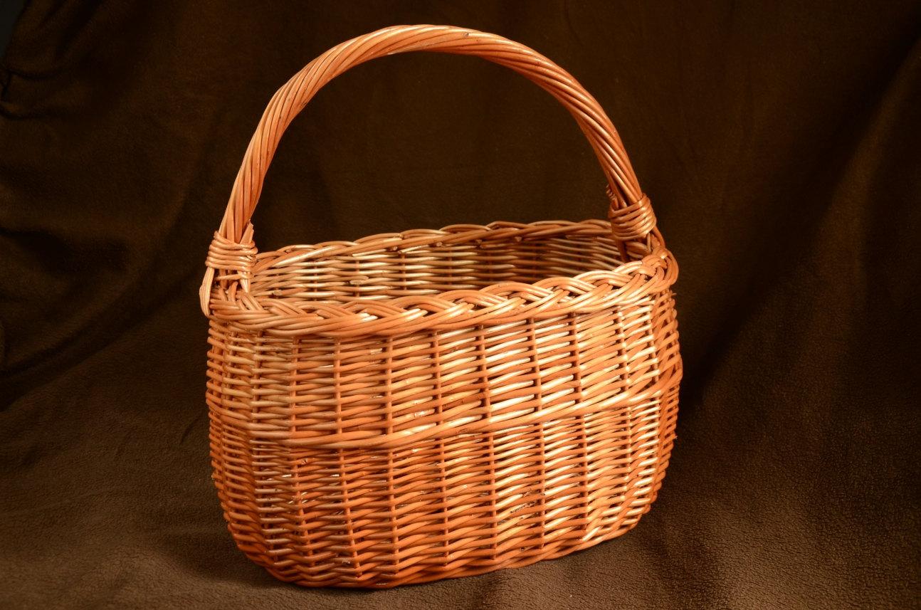 Handmade Wicker Basket Handwoven Willow Basket by WillowSouvenir.