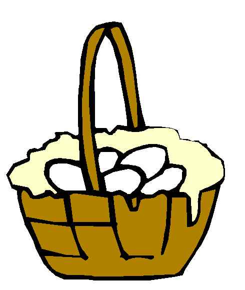 Eggs in a basket clipart.