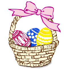 Holiday Basket Clipart.