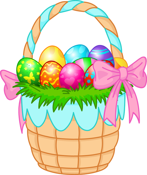 Easter basket eggs clip art.